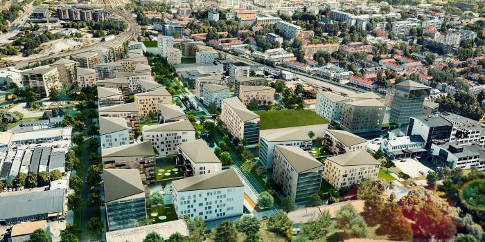 The new Kirstinpuisto residential area in Turku.