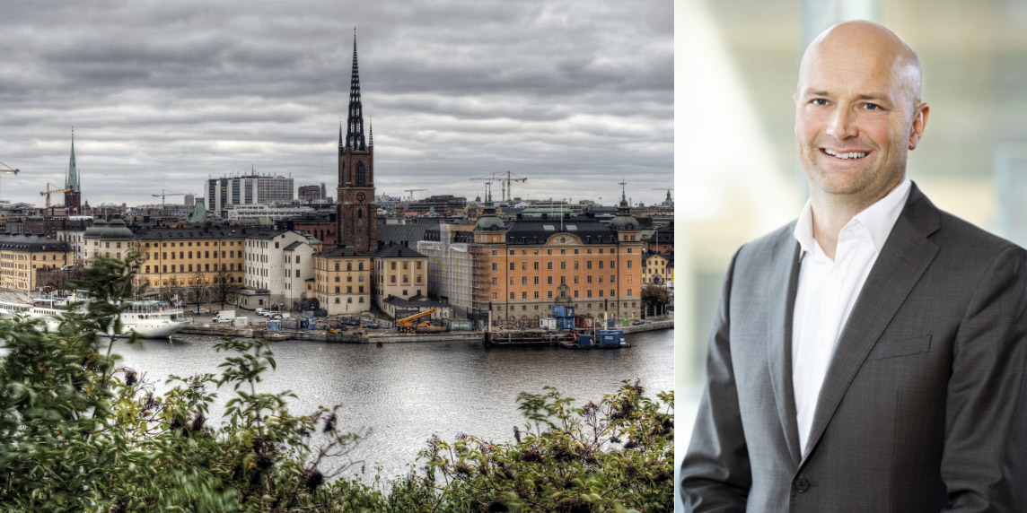 Stockholm skyline and David Renger, RIM.