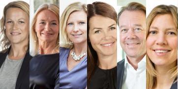 Anna Alsborger, Annika Ekström, Caroline Arehult, Essi Sten, Henrik Melder, Linda Eriksson.