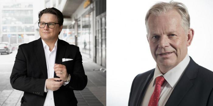 Mattias Lundgren, CEO of SSM, and Jan-Erik Höjvall, CEO of Amasten.