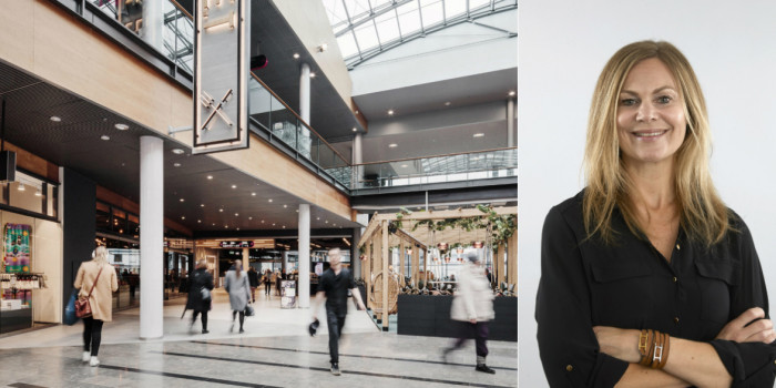 Iso Omena retail shopping centre, and Anna K Johansson, TAM Retail's Senior Project Manager and Strategic Advisor.