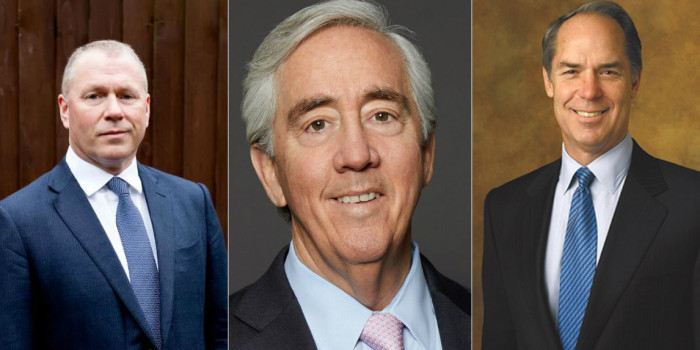 Nicolai Tangen, Norway's Bank's CEO, Robert Steers, CEO of Cohen & Steers, and Gerald L. Hassell, Chairman of The Bank of New York Mellon.