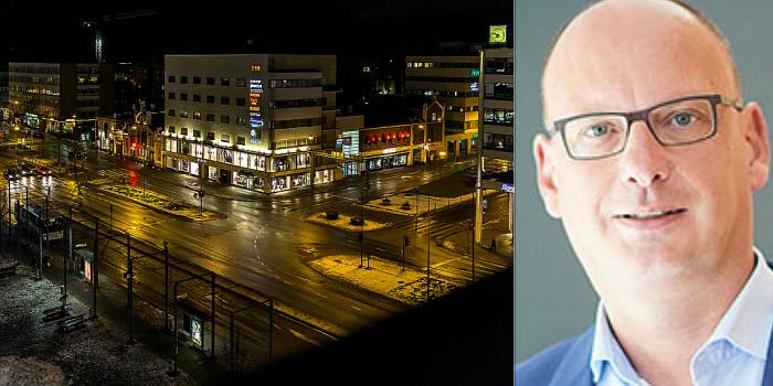 Part of Vaasa, and Jochem Binst, Head of External Communication & IR at Cofinimmo.