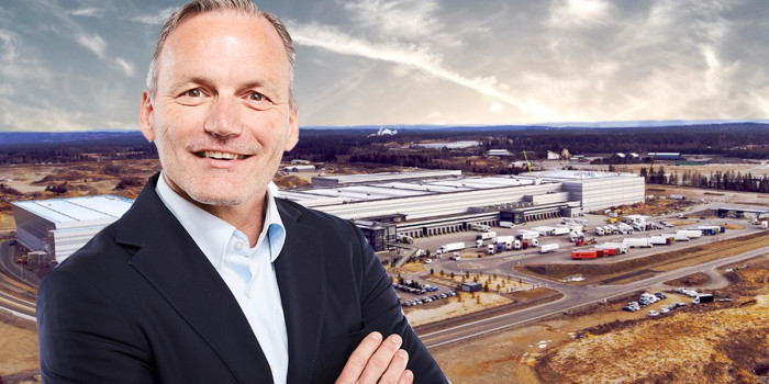 Montage of Matthias Kettelhoit, Head of Logicenters, and the acquired asset in Norway.