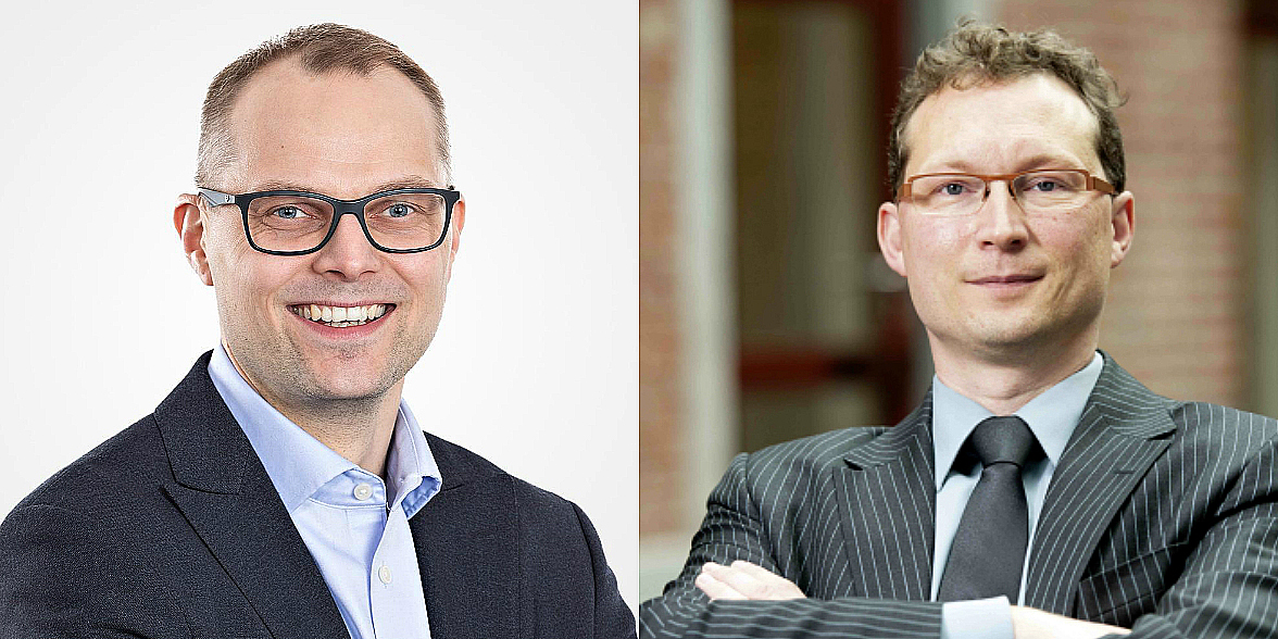 Jussi Karjula, CEO of Hoivatilat, and Stefaan Gielens, CEO of Aedifica.