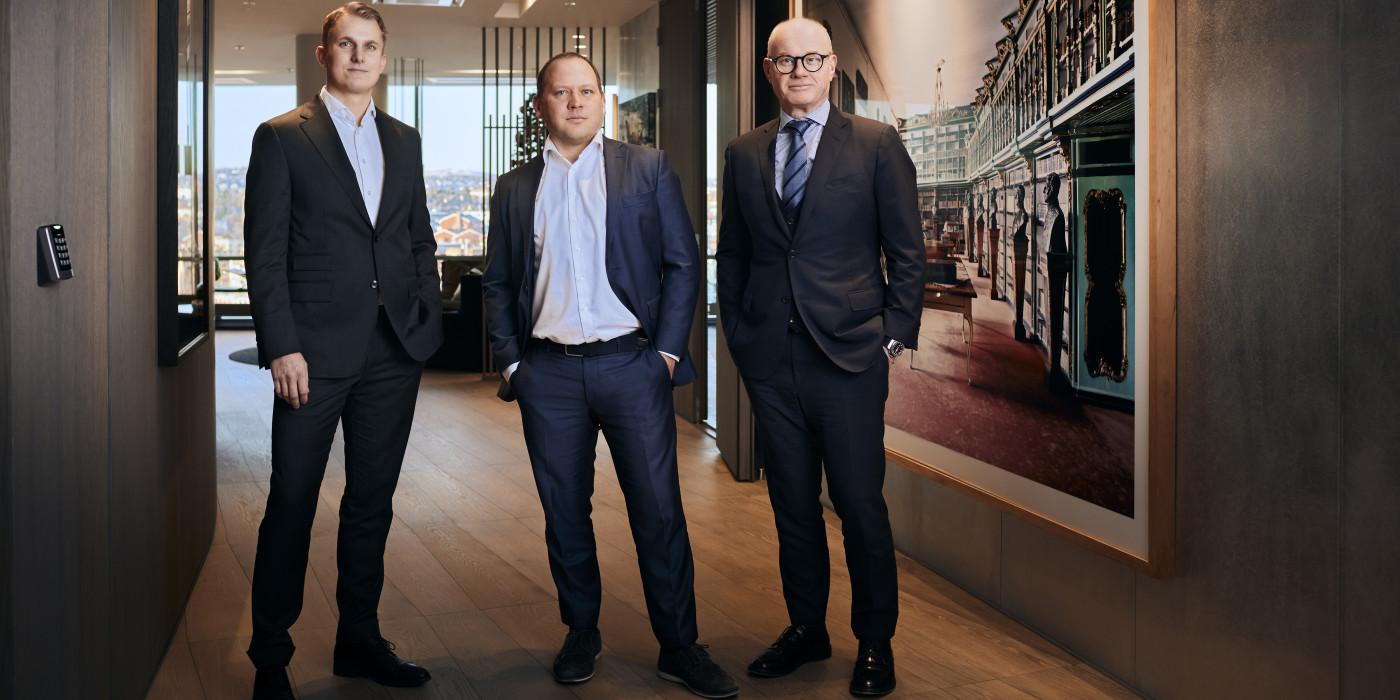 Bård Bjølgerud together with Viktor Myhre and Arnstein Rød.