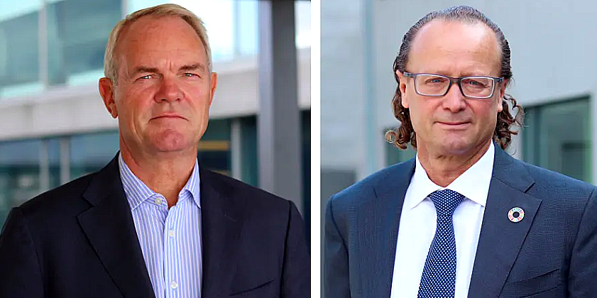 Truls Nergaard, Head of Nordic Real Estate, and Jan Erik Saugestand, CEO of Storebrand Asset Management.