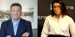 Ilija Batljan, CEO of SBB, and Sonja Horn, CEO of Entra.
