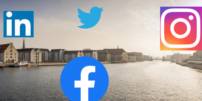 Which listed companies in Denmark are the most influential on social media?