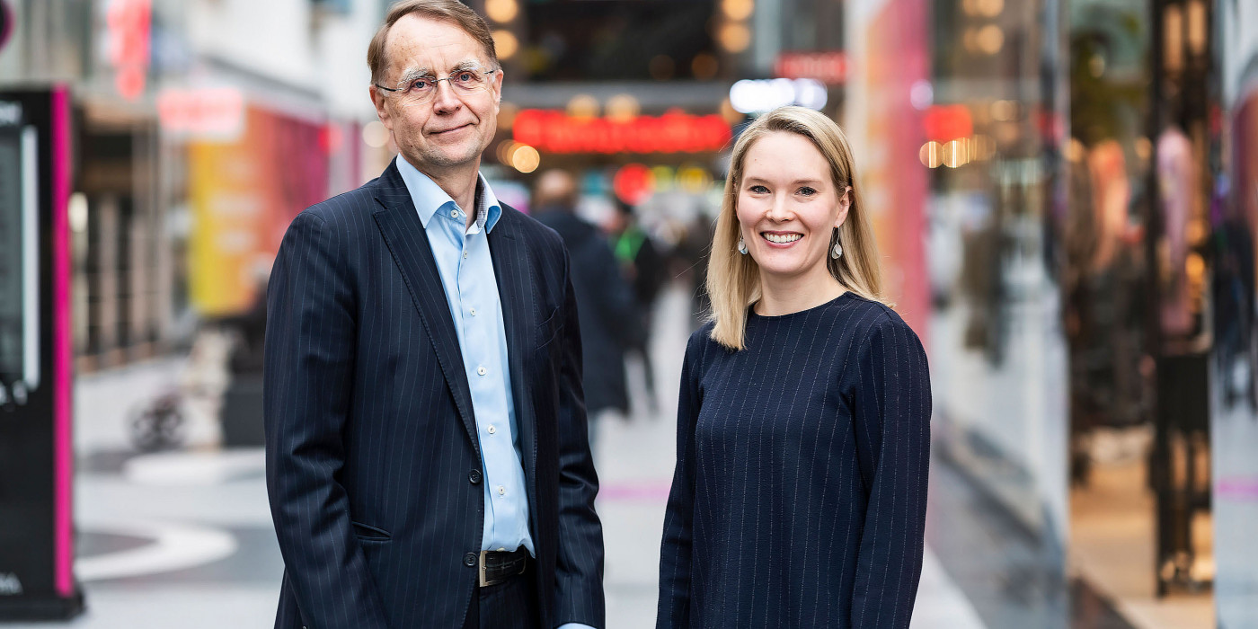 Eero Sihvonen, CFO at Citycon, and Henrica Ginström, COO.