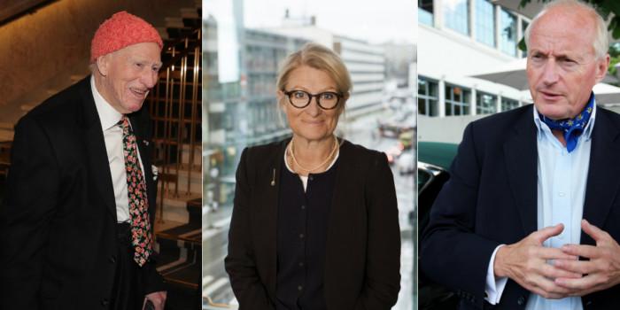 Olav Thon (Chairman of Olav Thon), Pia Gideon (Chair of Klövern), and Christian Ringnes (Pandox).