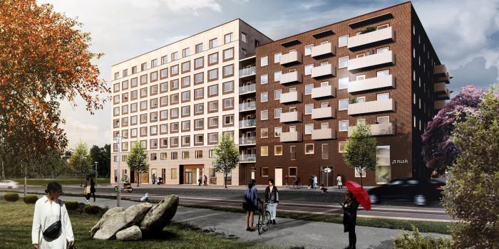 Skanska divests multi-family project in Stockholm.