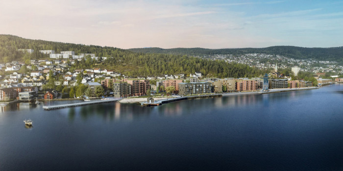SPG builds apartments on the shore in Drammen.