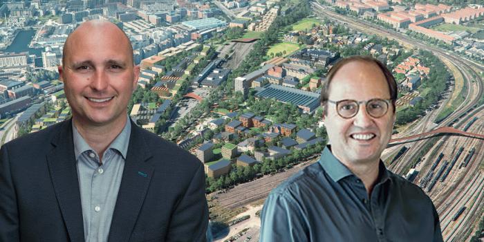 Søren Beck-Heede, CEO of DSB Ejendomsudvikling, and Carsten Rasmussen, Director at Freja Ejendomme.