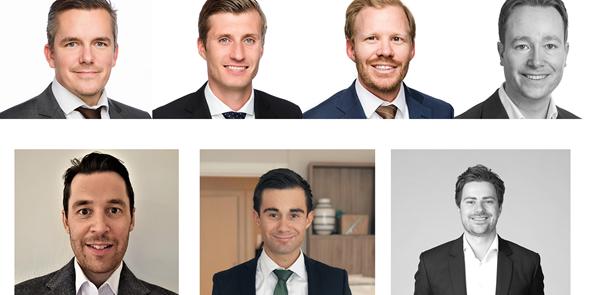 From top left to bottom right: Ruben Krantz Kringstad, Jannick Huseth, Harald Haakonsen, Kristian Aarflot-Nyrud, Jacob Sandberg Gjems-Onstad, Vebjørn Solstad and Jonas Løvås.