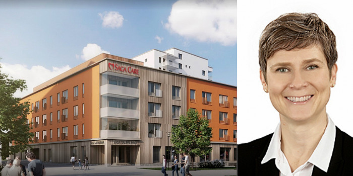 A purchased elderly care home in Lahti, and Riikka Moreau, Fund Manager in charge of Aged Care for Northern Horizon.