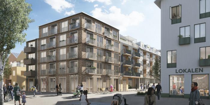 Balder and Serneke will develop approx. 200 apartments in Umeå.