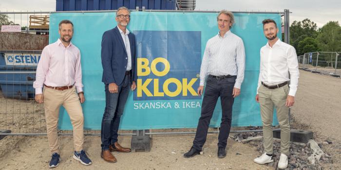 Alexander Liljenberg, Niclas Bagler, Erik Selin and Jacob Karlsson.