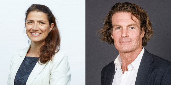 Sonja Horn, CEO of Entra, and Rutger Arnhult, Chairman of Castellum.