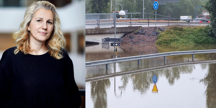 Dragana Marina, Head of Research at CBRE Denmark, and the floods in the Swedish city of Gävle.
