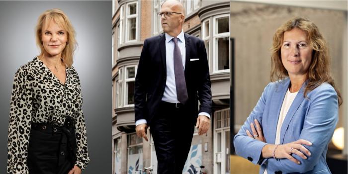 Liia Nõu, CEO of Pandox, Per W Hallgren, CEO of Jeudan, and Biljana Pehrsson, CEO of Kungsleden.