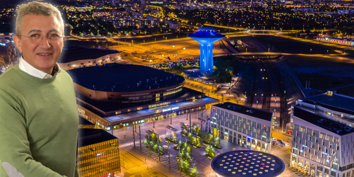 Greg Dingizian's Doxa is about to acquire Malmö Arena. The image is a montage.