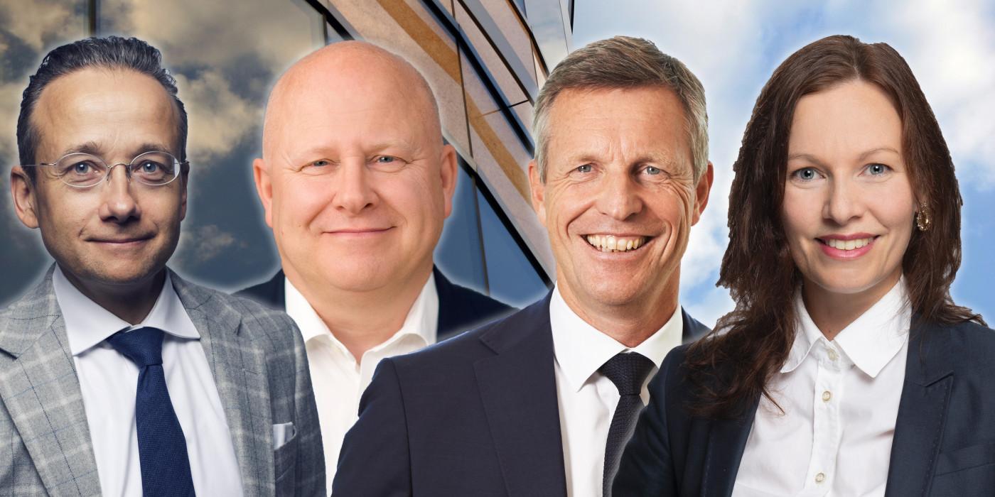 Joachim Hallengren, Baard Schumann, Henrik Saxborn and Annika Edström. The image is a montage.