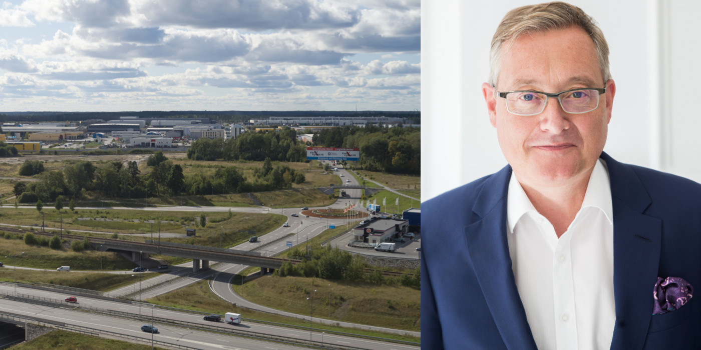 The site north of Stockholm, Rosersberg, and Michael Hughes, CEO of Verdion.