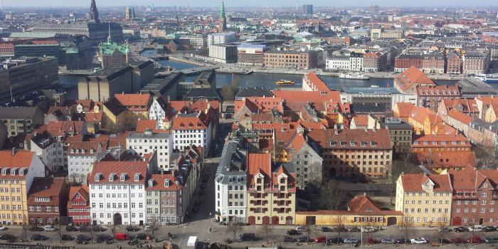 Copenhagen skyline.