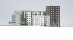 The new apartments in Linköping.