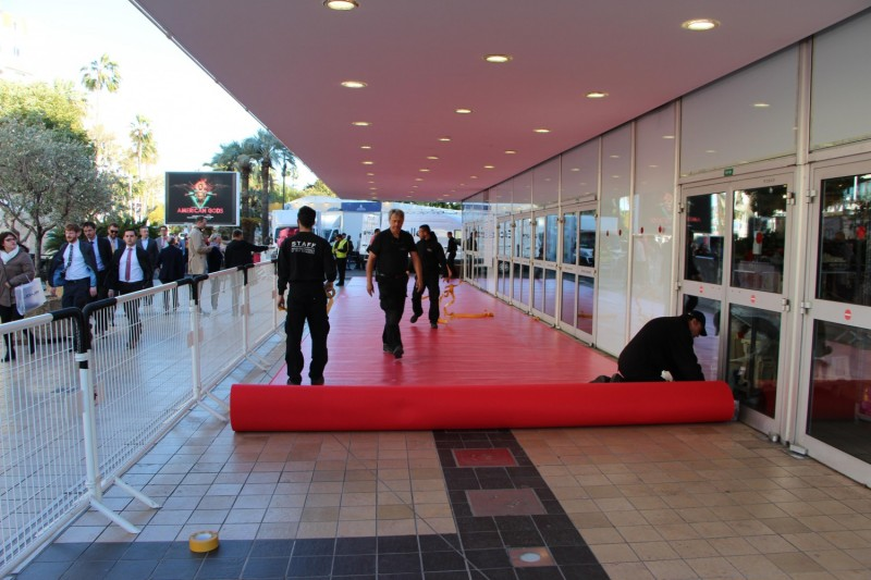 The red carpet is rolled out for the week's festivities.