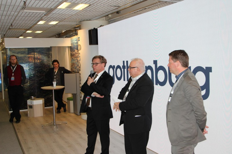The Gothenburg stand was inaugurated on Tuesday afternoon.