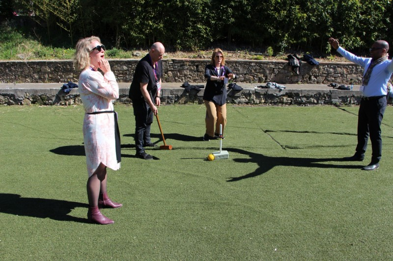 Swedish Architect star Gert Wingårdh settled the semifinals in Grant Thornton's croquet after a very tough match.