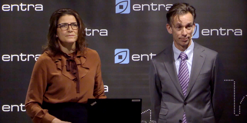 Sonja Horn and CFO Anders Olstad during yesterday's Q3 presentation.
