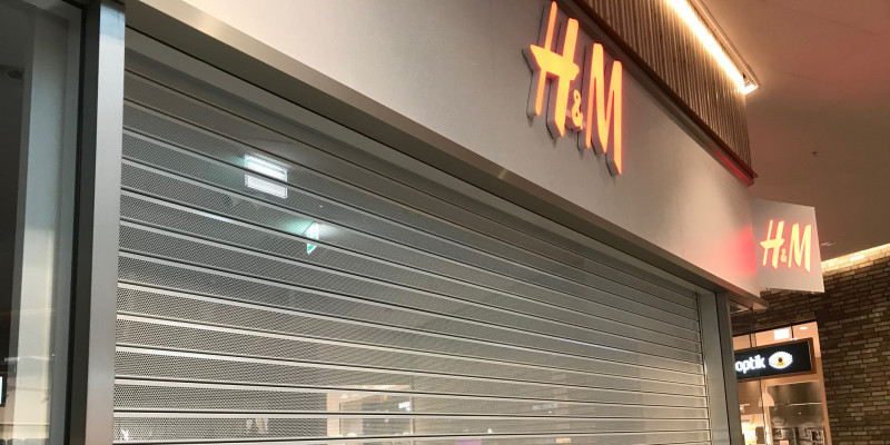 A Sunday closed H&M store in Mölndal Galleria, one of Citycon's shopping centers.