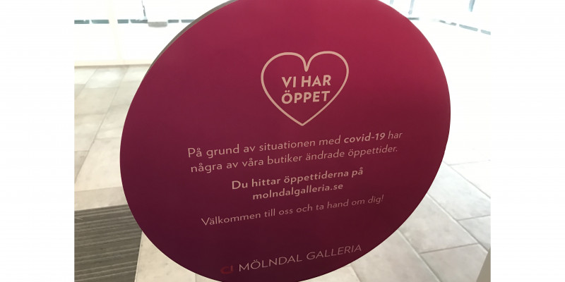 Citycon informs that the opening hours in Mölndal Galleria have changed, due to the current situation.